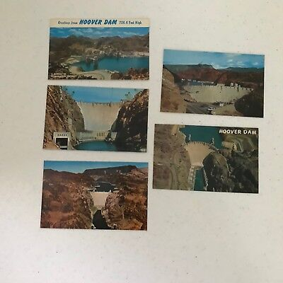 Hoover Dam Nevada Vintage Postcards Lot 5 Lake Mead Greetings from Hoover Dam