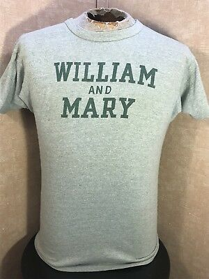 Vintage 70's Champion WILLIAM AND MARY Green S/S T-Shirt Men's Large RARE 80's
