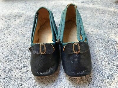 Early / Doll-Shoes / Children's~Leather~1910-20's~S.S. PIERCE~BOSTON, MASS~Nice!