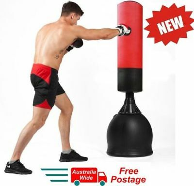 New 165Cm Home Gym Boxing Bag Target Free Standing Punching Dummy Kick Mma