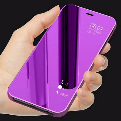 Flip Clear View Mirror Leather Stand Case Cover For Xiaomi Redmi 6/Note 5 Pro