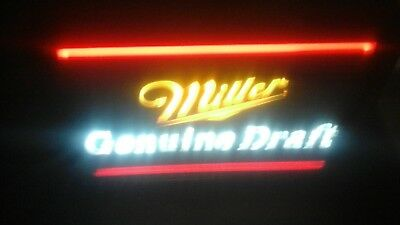 vintage electric miller genuine draft indoor lighted sign