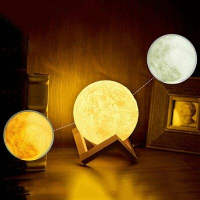 Moon Lamp Rechargeable Night Light Clap Touch Bedroom LED Light for Decoration B