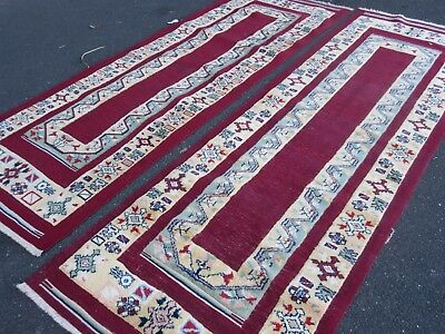 Turkish Rug, Persian Afghan Rug, Vintage Nomadic Rug, Wool Hand-Made Pair - 5.5m
