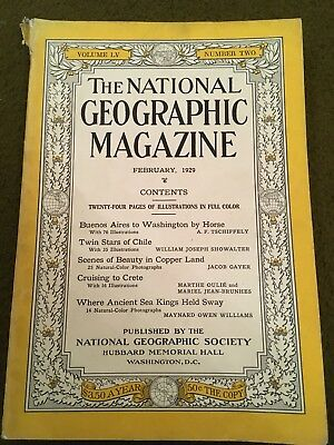 The National Geographic Magazine February 1929 Vol LV Number 2