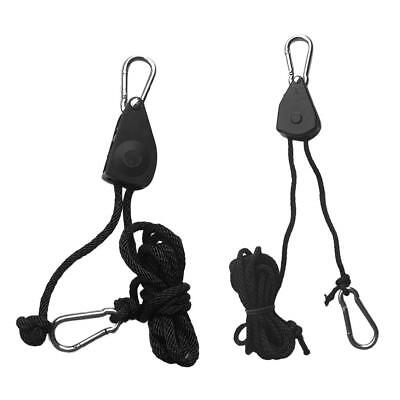 2x 8ft Bow/Stern Tie Down Ratchet Pulley Strap for Transport/Pull Kayak Boat