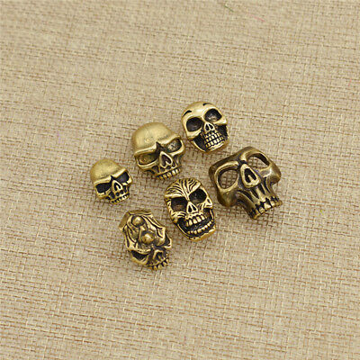 1x Brass Skull Concho Button Decor for Biker Motorcycle Wallet Leathercrafts DIY