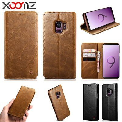 XOOMZ For Samsung Galaxy S9/S9 Plus Leather Card Wallet Magnetic Flip Case Cover