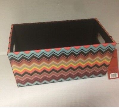 SOLD OUT NEW Missoni Target CHEVRON zig-zag Media Box Storage Makeup