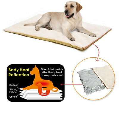 Dogs Cats Self-Heating Dog Bed Comfortable Pet Bed Heated Pad Warming Mat Pillow