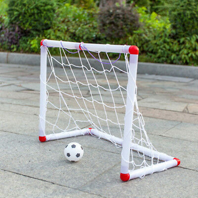 Mini Football Soccer Goal Post Net Set +Ball +Pump Indoor Outdoor Kids Sport Toy