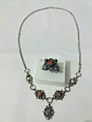 Amazigh Berber Necklace Kabyle Handmade Silver and Natural Coral