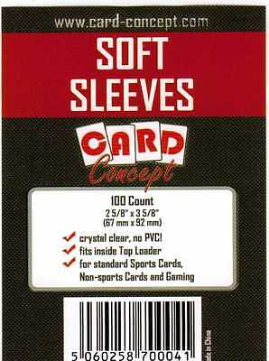 Card Concept Soft Card Sleeves for Trading Cards - Pack 100 Deck Protectors