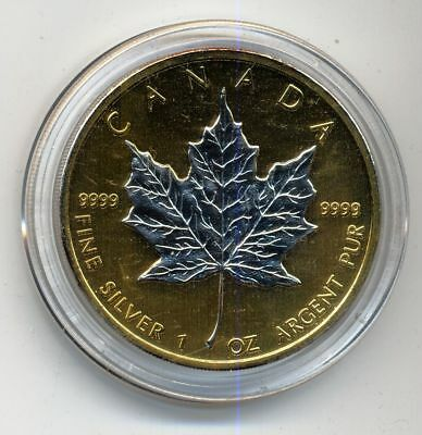 Kanada 5 Dol Maple Leaf  2010 st  1 Unze Silber/Gold/Platin aus Investment