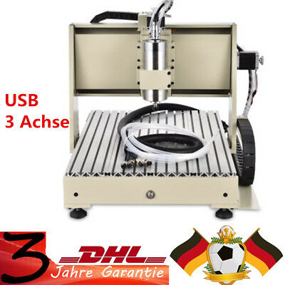 3Axis 6040 USB CNC Router Engraver Drilling Carver Cutter Machine 1500W VFD