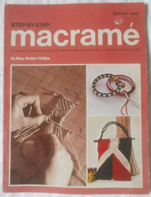 Vintage Retro 1977 Step By Step Macrame Mary Walker Phillips