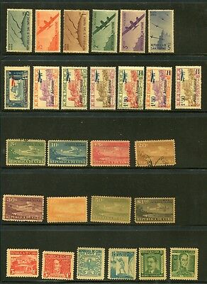 AIRMAILS  SELECTION Mainly mint with some used