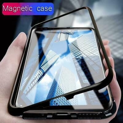 Magnetic Adsorption Metal Case Tempered Glass Cover For Samsung Galaxy S9 S8 S7