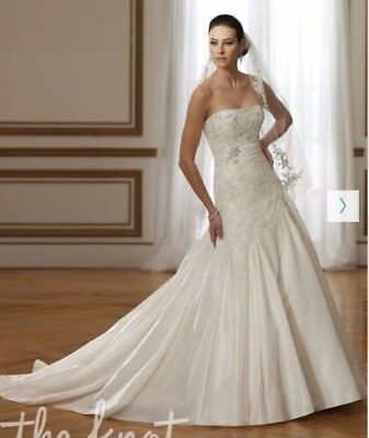 "Sophia Tolli ""Cloris"" Y21061 Size 12 Corset Back Hemmed and Altered Wedding Gown"