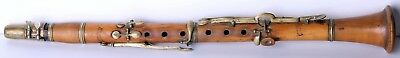 Antique Anton Huller Graslitz Wood Clarinet 19. c.