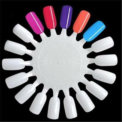 1Set Nail Art False Wheel Round Gel Polish Display Plastic Sample Practice FI