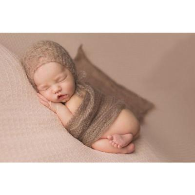 Newborn Baby Boy Infant Wrap Bed Blanket Swaddle Cloth Photography Gift FI