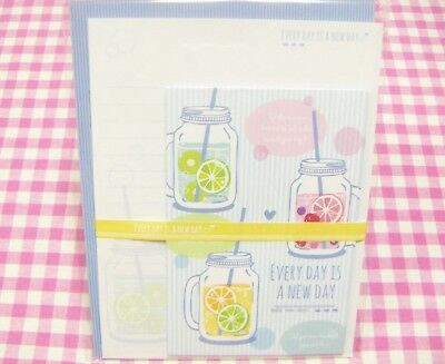 Kyowa / Every Day is a New Day Juice Letter Set  / Made in Japan Stationery
