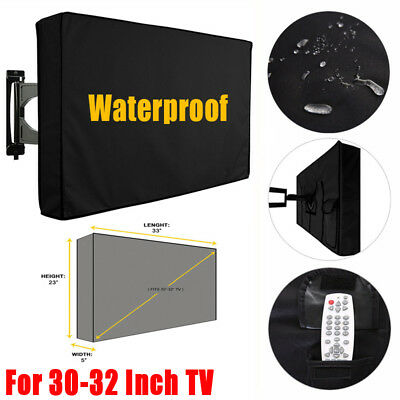 30-32 Inch TV Cover Dustproof Waterproof Outdoor Patio Television Protector Case