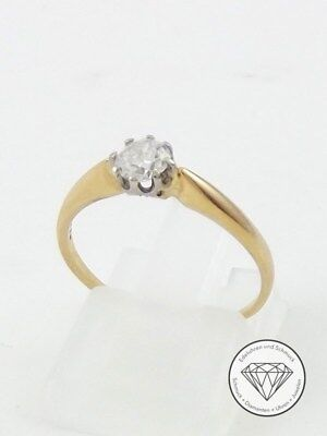 Damen Solitär Brillant Ring 585 / 14 Karat Gelb Gold 0,35 Ct Wert 850,- Euro