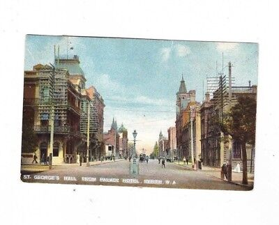 West Australia Postcard, St GEORGES HALL From PALACE HOTEL, PERTH WA