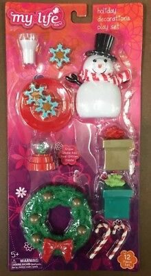 "✨ My Life As Holiday Decorations Play Set for 18"" Dolls Christmas American Girl✨"