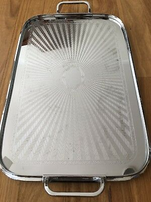 Vintage Ranleigh Art Deco Stainless Drinks Serving Tray