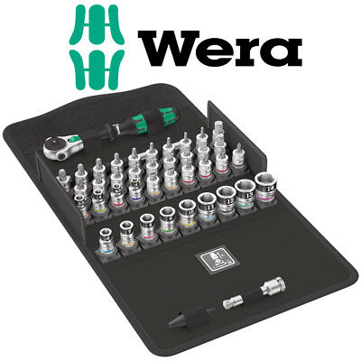 "WERA 42 1/4"" 8100 SA All-In Zyklop Ratchet & Torx/Hex/Pz/Ph/Slot Sockets, 003755"