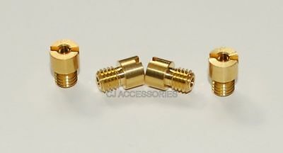 Brass Main Jets x4 To Fit Suzuki GSF600 GSF1200 Bandit In Various Sizes