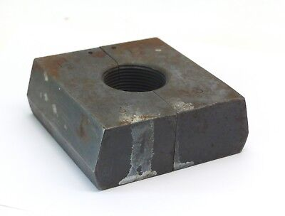 Threaded And Hinged Split Steel Block Collar - 1 1/2 Inch Bore - Number 3