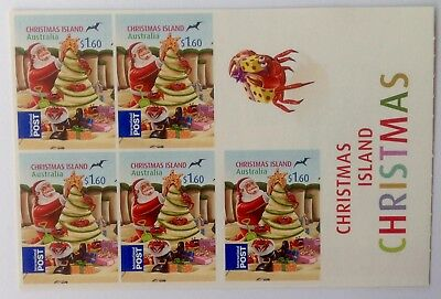 2012 Christmas Island S/A Stamp Booklet - Christmas international postage. Mint.