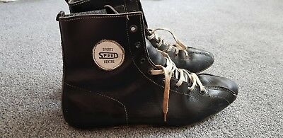 Vintage Full Leather Boxing Shoes
