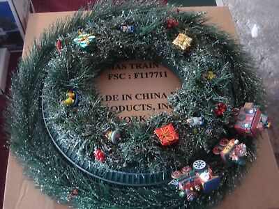 Avon 1998 Christmas Motion Activated & Musical Train Wreath Item FSC: F117711