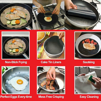 Round Teflon Non-stick Mat Pan Liner Sheet Cooking Sheet Pad Kitchen Mats