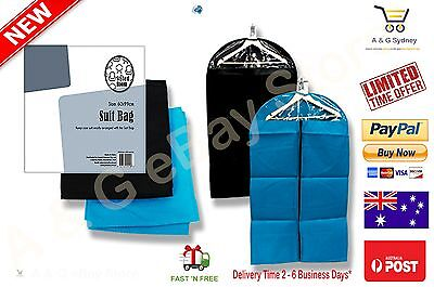 2x BLACK SUIT COVER BAGS Jacket Garment Storage Coat Protector Clearance Sales