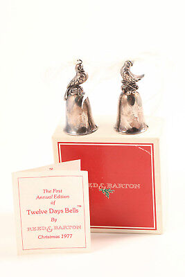 VTG Reed & Barton 12 Days Christmas Silver Bells Ornaments Turtle Dove Partridge