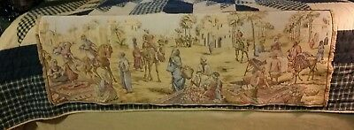Beautiful Antique Tapestry with Arabian Village Marketplace Scene