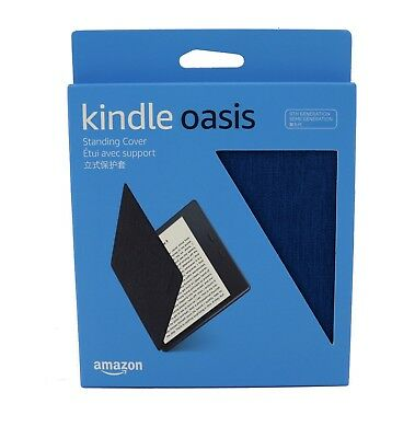 Amazon Kindle Oasis Fabric Standing Cover Case 9th Gen 2017 Blue