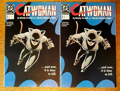 Catwoman #3 x (2) & #4 (Apr 1989, DC) mini series