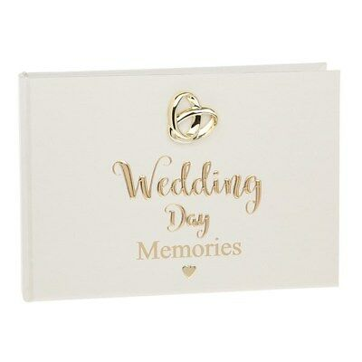 """Bands of Gold Wedding Rings Photo Album Small - Holds 24 6 x 4"""" Photos Pictures"""