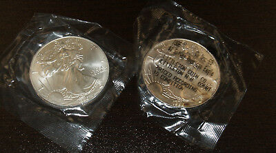 Two Nice Uncirculated Better Date 1996 American Silver Eagles!!