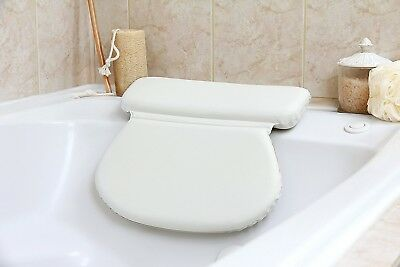 Ultra Soft Luxury Bath Pillow - 7 built in Suction Cups and Comfortable Padding