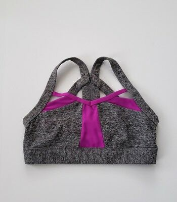 Jo + Jax Nova Top Dance Sz Child Medium Large Gray Purple EEUC