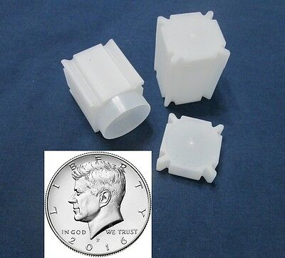 10 Half Dollar Coin Safe Square Coin Tubes Archival Quality