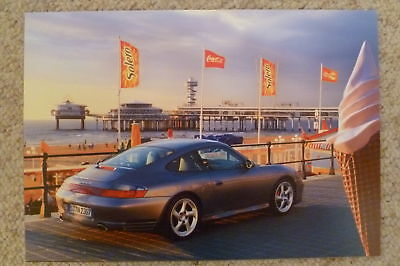 2002 Porsche 911 Carrera 4S Coupe Showroom Advertising Poster RARE! Awesome L@@K